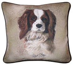 Cavalier King Charles Spaniel Tapestry Dog Cushions  http://www.abentleycushions.co.uk/detail.asp?pID=690