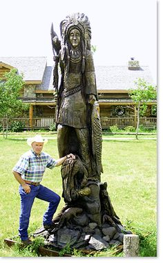 Clint Haensel and the Chief Little Crow