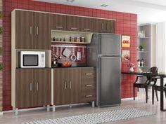 Cozinha Compacta Poliman Móveis Franciele - 9 Portas com as melhores condições você encontra no Magazine Morenawinni. Confira!