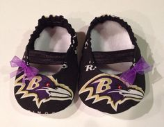 Baltimore Ravens Baby Maryjane Booties by saluna on Etsy, $17.99