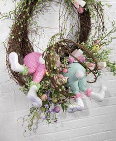 Easter Decoration  Easter Bunny Bottom  Polka Dot Bunny Butt
