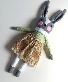 Rag Doll Bunny Rabbit in Skirt named Victoria