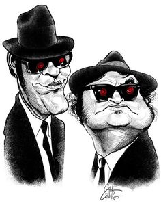 BLUES BROTHERS - Caricatures 3 by Marco Calcinaro, via Behance