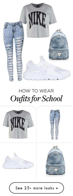 """School outfit"" by itsdestinygirl on Polyvore featuring NIKE"