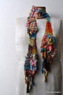 Wooldancer: New 5 day workshop @ Fibre Arts Australia Forum, Ballarat 2012 - I love this scarf design.