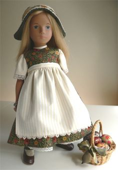 Bavarian outfit for Sasha doll by chirnside Sasha Doll, Collector Dolls, Doll Patterns, Couture, Doll Clothes, Flower Girl Dresses, Wedding Dresses, Friends, English