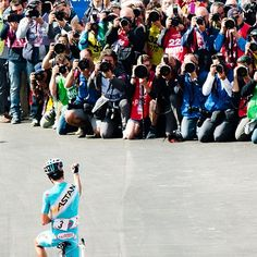 cadenced:  Jered Gruber's photograph of Fabio Aru's view of his Giro d'Italia stage win on Sunday.