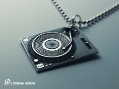 This solid sterling silver (925) necklace is our tribute to the legendary Technics SL-1200 series of DJ turntables first introduced in 1972 and still in heavy use. The necklace features a beautiful combination of high polished, micro-hammered and blackened (oxidised) surfaces. The handmade pendant measures approx. 33 X 26 X 5 mm (excl. the 8 mm chain ring). The sturdy and very comfortable 2.5 mm sterling silver ball chain is approx. 750 mm long.