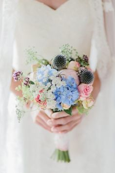 Wedding flowers blue as the early morning light. #wedding photography