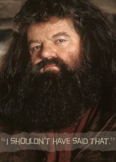 "Robbie Coltrane as ""Hagrid"" from ""Harry Potter"" movies. Harry Potter Quotes, Harry Potter Love, Harry Potter Characters, Harry Potter World, Hagrid Quotes, Rúbeo Hagrid, Ron Et Hermione, Robbie Coltrane, The Sorcerer's Stone"