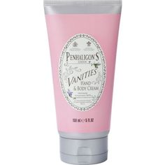 PENHALIGONS Vanities hand and body cream 150ml ($38) ❤ liked on Polyvore featuring beauty products, bath & body products, body moisturizers, fillers, beauty and body moisturizer