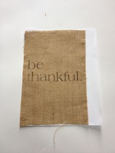 How to print on burlap without using freezer paper