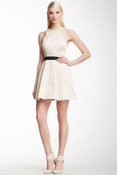 Fit & Flare Choker Dress