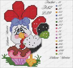 "ru / - Альбом ""cozinha - Lilly is Love Chicken Cross Stitch, Cross Stitch Bird, Cute Cross Stitch, Cross Stitch Charts, Cross Stitch Designs, Cross Stitch Embroidery, Cross Stitch Patterns, Plastic Canvas Crafts, Plastic Canvas Patterns"