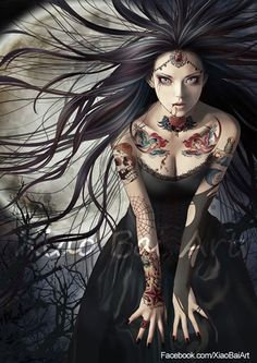 Vampire bride by ~XiaoBaiArt on deviantART