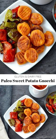 Personalized Graduation Gifts - Ideas To Pick Low Cost Graduation Offers Paleo Sweet Potato Gnocchi Recipe Made With Only 6 Ingredients Gluten-Free Potato Gnocchi Recipe, Sweet Potato Gnocchi, Paleo Sweet Potato, Sweet Potato Recipes, Sweet Potato Mash, Recipe Pasta, Dairy Free Recipes, Real Food Recipes, Vegetarian Recipes