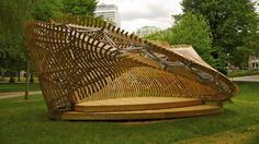 wood+structure+rotation AWESOMELY FLUID! does it move?  The ContemPLAY Pavilion