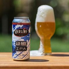 Air Ride IPA - Redline Brewhouse 6.1% ABV 67IBUs Another great one from @redlinebrewhouse . Full of juicy citrus fruit with some hop bitterness. It's like orange juice for grown ups. Part of a complete breakfast .