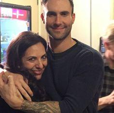 Adam Levine with Sharon Feldstein.  Jonah Hill's Mom & Adam's Godmother.