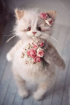 Buy Embroidered coat - cat, cats, kitty, toy cat, cat toy, toy kitten