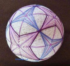 てまり 「紫陽花」 白地紫青 手まり 手毬 手鞠|その他インテリア雑貨|てまり - ねこ|ハンドメイド通販・販売のCreema