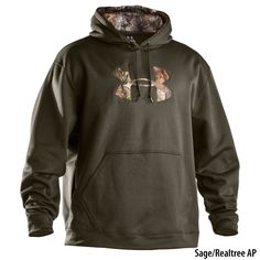 Hoodie + Under armor + camo = He would rock this