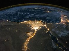 Night View of the Eastern Mediterranean Sea Photo at AllPosters.com