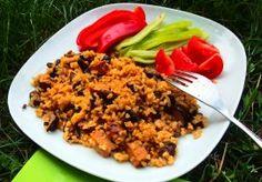 Bulgur s uzeným tempehem a hlívou Tempeh, Tofu, Fried Rice, Quinoa, Risotto, Fries, Beef, Ethnic Recipes, Fitness
