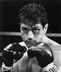 American actor Robert De Niro as boxer Jake LaMotta in a scene from 'Raging Bull', directed by Martin Scorsese, 1980.