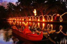Cocoa Palms Hotel, Kauai, torch lighting ceremony ... Elvis stayed here while filming Blue Hawaii .... sang Hawaiian Wedding Song on boat here