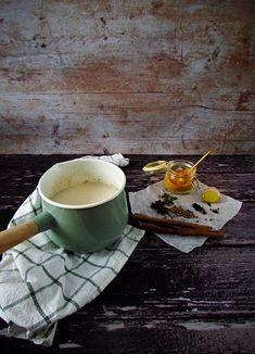 Golden Milk Chai with Coconut Whipped Cream Coconut Whipped Cream, Vanilla Cream, Coconut Milk, Throat Lozenge, Ground Turmeric, Golden Milk, Tea Strainer, Coriander Seeds, Chai