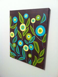 Circle Flowers by ColorfulCanvases on Etsy, $40.00