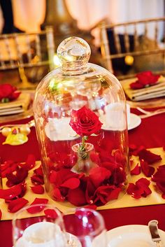 """""""Belle's Enchanted Christmas"""" inspired wedding reception"""