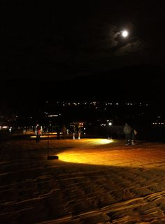 The Floating Piers by night. #TheFloatingPiers by Christo and Jeanne-Claude #Montisola Lake Iseo