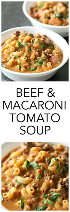 This hearty Ground Beef and Macaroni Tomato Soup is easy to make and full of flavor that comes together quickly. It's a family favorite!