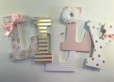 Pink and gold girls nursery letters, blush and gold nursery letters, baby girl nursery letters, gold glitter letters, pink nursery decor Nursery Letters Girl, Baby Letters, Girl Nursery, Gold Letters, Mdf Letters, Gold Nursery Decor, Baby Decor, Blush Nursery, Nursery Ideas