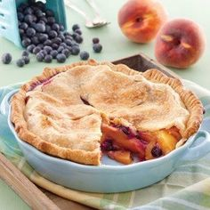 Ingredients   1 (14.1-ounce) package refrigerated piecrusts (2 sheets) 8 cups peeled, pitted, and sliced fresh peaches 1⁄2 cup fresh blueberriesRead more ›