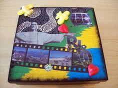 Caixa em MDF, retratando os pontos turísticos do Rio de Janeiro, cidade maravilhosa, by Renata Sousa. Encontre-a em www.ikerapresentes.com.br.