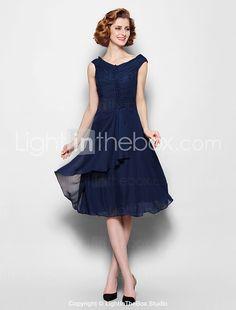 e2b2c7cc0f5 Lanting Bride A-line Plus Size   Petite Mother of the Bride Dress Knee-