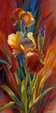 Watercolor Illustration, Watercolor Paintings, Wallpaper Nature Flowers, Flower Art Drawing, Iris Painting, Painting Inspiration, Photo To Art, Art Drawings, Canvas Art