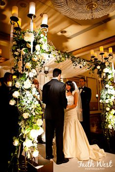 Beautiful Chuppah-Tthe Wedding Party generally makes it for the Couple...