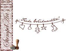 Stempel - Frohe Weihnachten 60x20 mm von Stempel-Art auf DaWanda.com