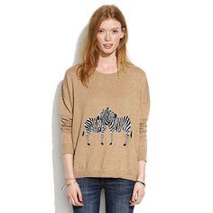 Madewell Studio Sweater in Zebra