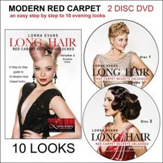 Lorna Evans Modern RED CARPET step by step DVD for beautiful long hair styling, bridal hair