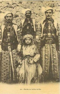 Kurds in traditional Attire, Aleppo, 1920s.