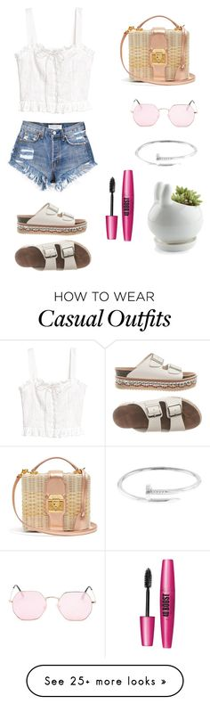"""Casual"" by mariardz on Polyvore featuring H&M, Mark Cross and Forever 21 Feminine Fashion, Feminine Style, Casual Wear, Casual Outfits, Mark Cross, Forever 21, Korean, Shorts, Makeup"
