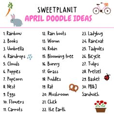 What Should I Draw Ideas For April Sweet Planit – Insanely Smart, Easy and Cool Drawing Ideas What Should I Draw, What To Draw, Planner Doodles, Teachers Toolbox, You Doodle, Drawing Skills, Drawing Tips, Blooming Trees, Planner Tips
