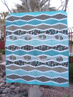 New Wave Quilt, via Flickr.