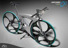 Inspirado por la lágrima, es una bicicleta plegable de una sola velocidad