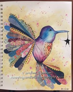 art journal by Caroline Duncan ~ Stampings and Inklings ~ LifeBook  2017